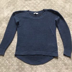 Madewell navy open knit sweater